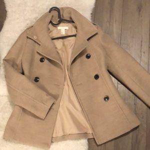 H&M tan nude trench-coat